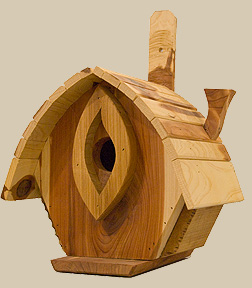Birdhouses from Wesley Gallery make fine gifts