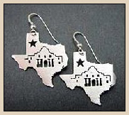 texas alamo earrings