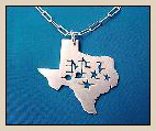 texas music pendant